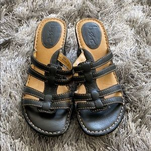 B.O.C black comfort sandals wedges